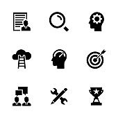 JOB SEARCH SOLID ICONS