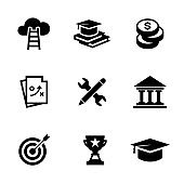 SCHOLARSHIP SOLID ICONS