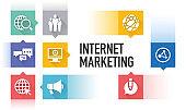 INTERNET MARKETING ICON CONCEPT