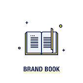 BRAND BOOK ICON CONCEPT