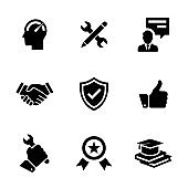 EXPERT ADVICE SOLID ICONS