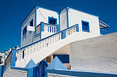 Beautiful white houses and buildings in Santorini Island