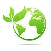 World environmental ,saving logo and ecology friendly concept  Vector illustration