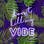 Tropical Beach Party Banner with Neon Lettering. Hot Summer Night Club Signboard Poster with Palm Leaves. Disco Poster Illuminated Sign. Vector illustration