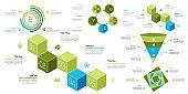 Business presentation page design set