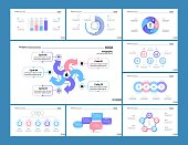 Marketing bar, flow and process charts