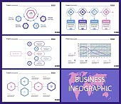 Business inforgraphic design set for project management concept