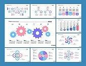 Marketing flow, bar and process charts