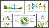 Set of financial analysis concept infographic charts