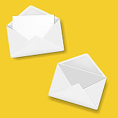 Envelope Collection Yellow Background