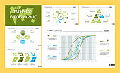 Project infographic design template set