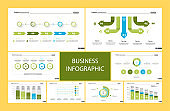 Creative business inforgraphic design set