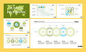 Business inforgraphic design set for strategy concept