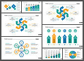 Set of financial analysis concept infographic charts (2)