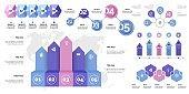 Creative business inforgraphic design set 1