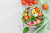 Healthy vegetable greek salad