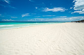 Amazing beach of Varadero during a day