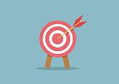 Arrow in target,