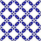 cute pattern blue and white seamless