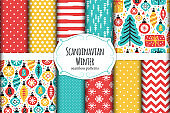 Scandinavian patterns set