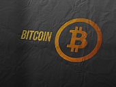 Bitcoin cryptocurrency and modern banking concept.