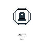 Death icon vector. Trendy flat death icon from signs collection isolated on white background. Vector illustration can be used for web and mobile graphic design, logo, eps10