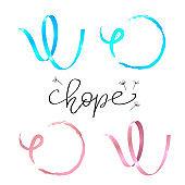 Hope lettering.  Awareness Calligraphy Poster Design.