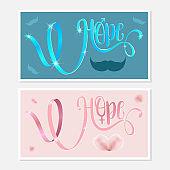 Hope.  Awareness Calligraphy Poster Design.