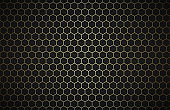 Geometric polygons background, abstract black and gold metallic wallpaper, simple vector illustration