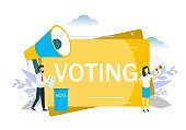Voting, vector flat style design illustration