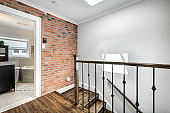 Full set of the renovated old style townhouse in Montreal, Canada