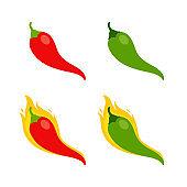 Food - Vegetable - Flat Vector Icon Set