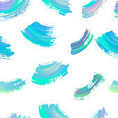 Seamless abstract background pattern with paint strokes. Vector illustration