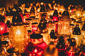 All Saints Day: candles and lanterns (HDRi)