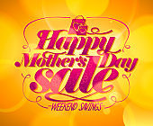 Happy Mother`s day sale banner, weekend savings poster