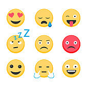 Smile Icon Set - Stock Vector