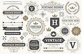 Vintage sign frames. Old decorative frame design, retro ornate label elements and luxurious vintage borders vector set