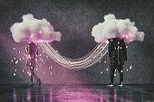 Virtual dating cloud computing conceptual image