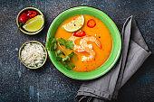 Thai soup tom yum