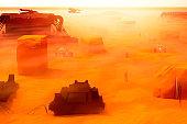 Futuristic image of Mars terraforming