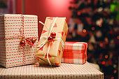 Christmas and new year 2020 gift box,christmas celebration