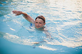 Enjoying the Swim at the Pool