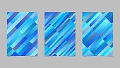 Gradient diagonal stripe brochure set - abstract vector templates