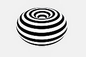 black and white stripe, Repeating lines, 3d rendering