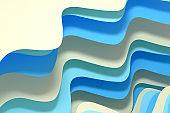 3d rendering curve paper background
