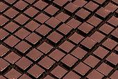 Brown chocolate, 3d rendering