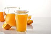 Fresh Squeezed Orange Juice with Fresh Fruits.
