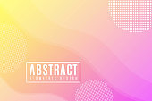 Abstract creative template for your design. Modern background. Geometric design, Trendy style. Fluid graphic yellow purple shape. Abstract elements. Web cover. Vector Illustration. EPS 10