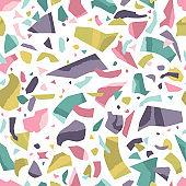 Terrazzo floor marble seamless pattern.