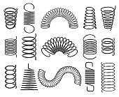 Metal springs isolated on white